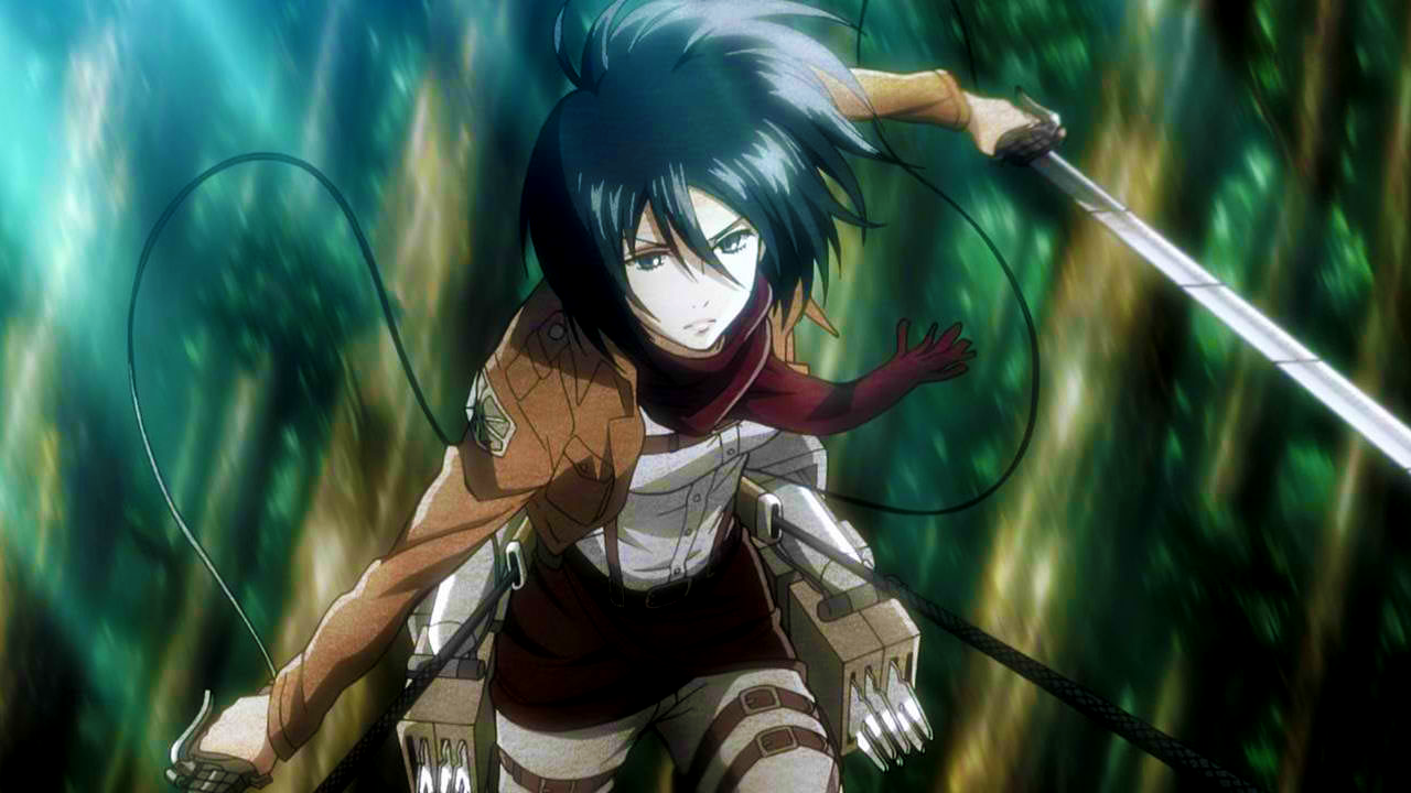 Mikasa_during_the_military_training